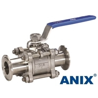 Picture of ANIX Stainless Steel Clamp End 3-Piece Full Port Ball Valve 1000 WOG