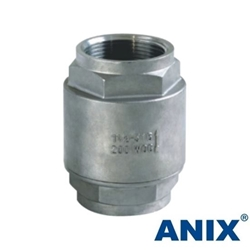 Picture of ANIX Stainless Steel 2-Piece Spring Loaded Check Valve Threaded NPT