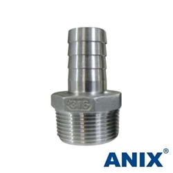 Picture of Stainless Steel Hose Tail Barb Nipple CL150 Threaded NPT