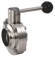 Picture of ANIX Sanitary Butterfly Valve Butt Weld End - Pull Handle