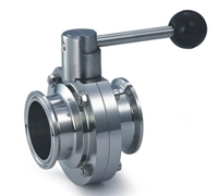 Picture of ANIX Sanitary Butterfly Valve  - Clamp End / Pull Handle